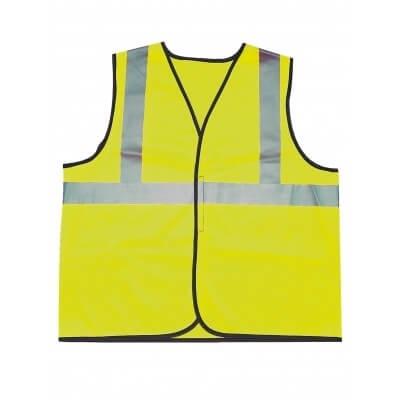 Gilet de signalisation jaune haute visibilite