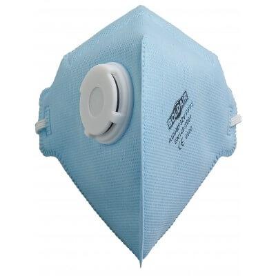 Demi-masque pliable avec valve ffp2 nr boîte de 20 pièces