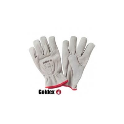 Gant cuir tout croûte bovin GOLDEX  56S coloris naturel