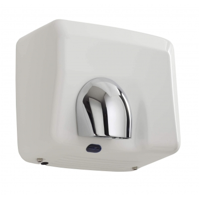 seche-mains automatique horizontal metal 2500 w blanc emaille ligne pulseo rossignol