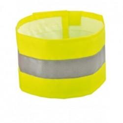 Brassard haute-visibilité polyester enduit jaune