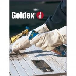 Gant coton tissé GOLDEX PRP75415 paume double épaisseur manchette 15 cm
