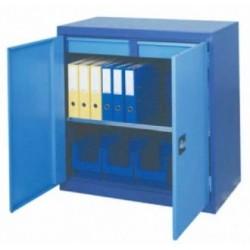 Armoire métallique basse 2 portes battantes 2 tiroirs
