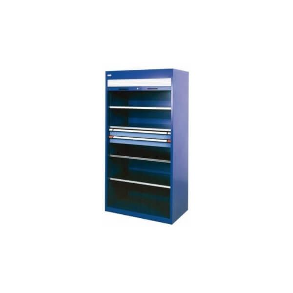 armoire m tallique fermeture rideau. Black Bedroom Furniture Sets. Home Design Ideas