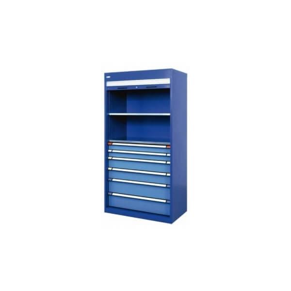 armoire metallique avec rideau fermeture horizontale en pvc. Black Bedroom Furniture Sets. Home Design Ideas