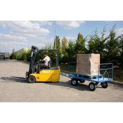 Remorque industrielle tractable 2500 x 1200 mm 1000 kg