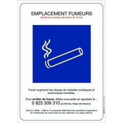 Panneau d'emplacement fumeurs 210 x 297