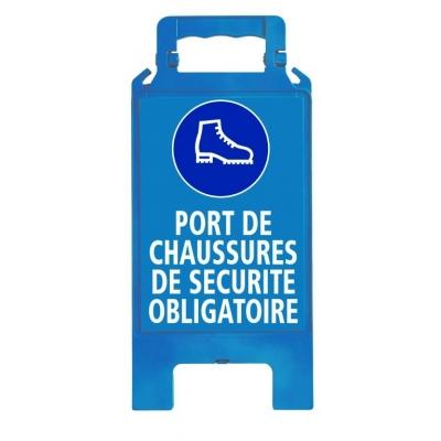 Chevalet de signalisation port chaussures sécurité