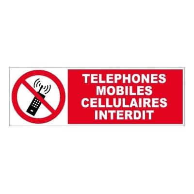 Panneau d'interdiction téléphones mobiles