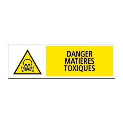 Panneau d'avertissement de danger matières toxiques