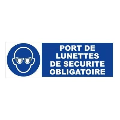 Panneau port de lunettes de sécurité obligatoire