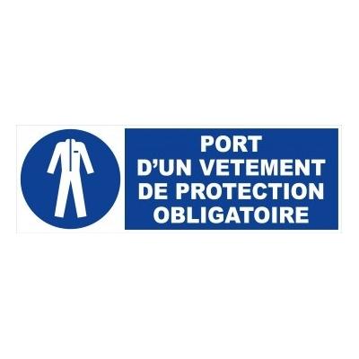 Panneau port vêtement protection obligatoire