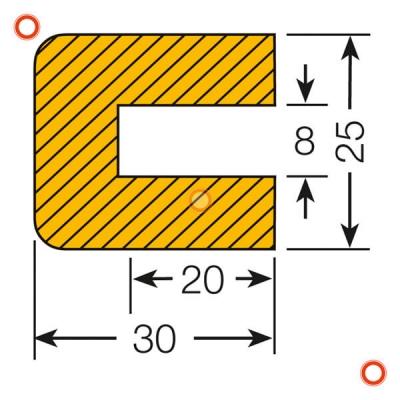 Mousse de protection profil rectangle