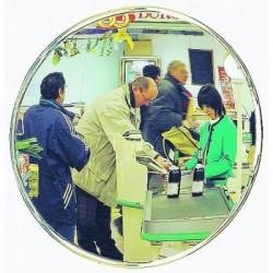 Miroir rond de surveillance intérieure standard argent Vialux 104 Ø400 mm