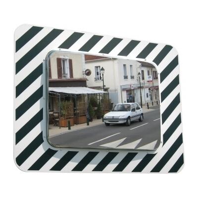 Miroir d'agglomération réglementaire 600x400 avec cadre noir et blanc Vialux 874