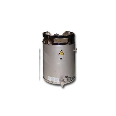 Fût de sécurité en acier inoxydable avec vanne de vidange en partie basse
