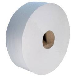 Papier hyginénnique Jumbo 380m ouate blanc 2 plis