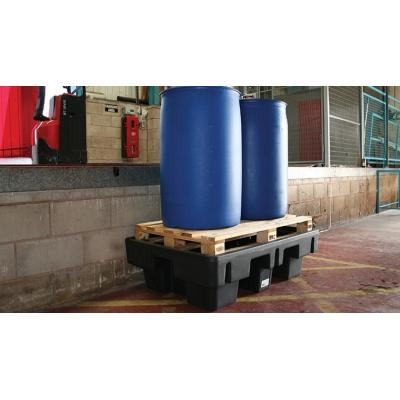 Bac de rétention pour 2 fûts 250 litres