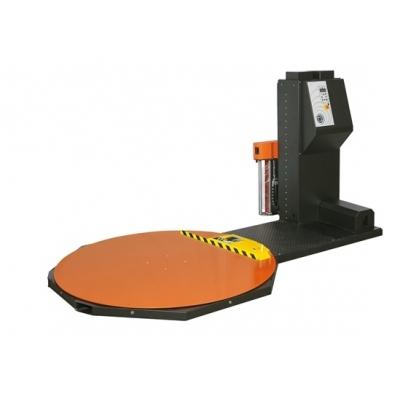 Banderoleuse avec système automatique d'accroche, de coupe et de soudure du film