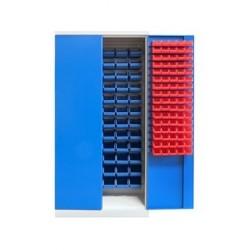 Armoire pour atelier en métal portes battantes