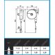 Équilibreur à câble POLYPROPYLENE de 1 à 8 kg
