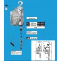 Équilibreur de charge cable inox charge de 15 à 60 kg suivant modèles