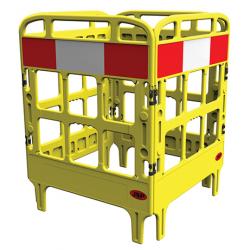 Barrière de protection polyéthylène 4 portes jaune