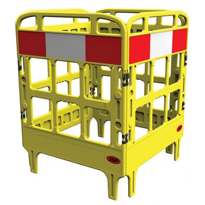 Barrière de protection polyéthylène jaune
