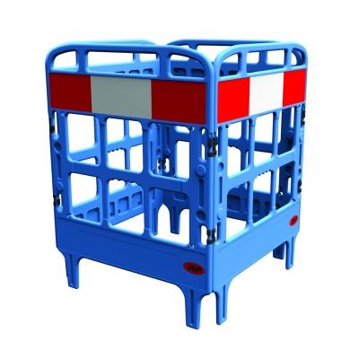Barrière de protection polyéthylène 4 portes bleu