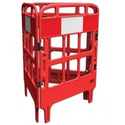 Barrière de protection polyéthylène 3 portes rouge