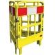 Barrière de protection polyéthylène 3 portes jaune