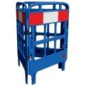 Barrière de protection polyéthylène 3 portes bleu