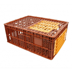 Lot de 16 cages à volailles 2 portes