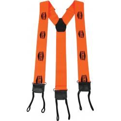 Bretelles à tresses pour bûcherons Orange