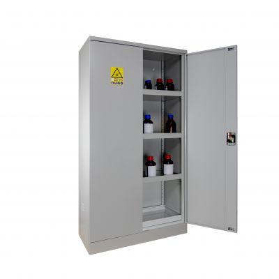 Armoire haute de sûreté pour produits danfereux à 2 portes Ouvert
