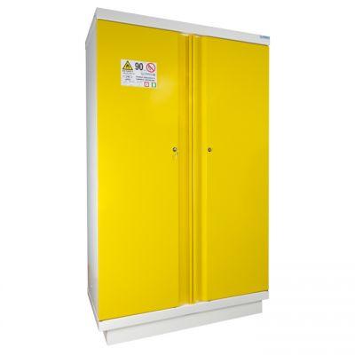 Armoire de sécurité haute avec 2 portes jaunes