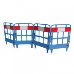 Barrière de protection polyéthylène 4 portes rouge