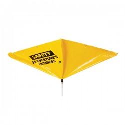Bâche de dérivation de fuite pour toit avec message de sécurité