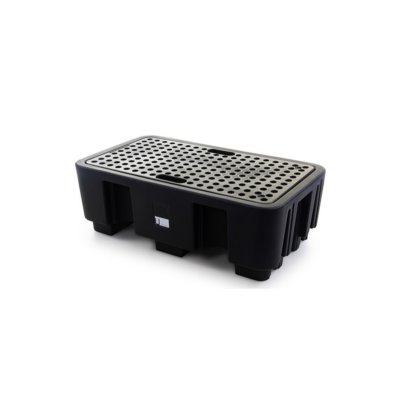 bac de rétention 250 L avec caillebotis noir