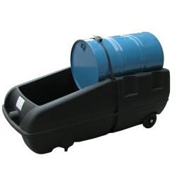 Poste de soutirage mobile pour fut 220 litres bac noir
