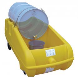 Poste de soutirage mobile pour fut 205 litres bac jaune