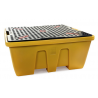 Bac de rétention 1260L avec caillebotis pour conteneur GRV IBC