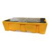 Bac de rétention 1130L avec caillebotis pour 2 conteneurs GRV IBC