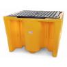Bac de rétention 1120L sans caillebotis pour conteneur GRV IBC