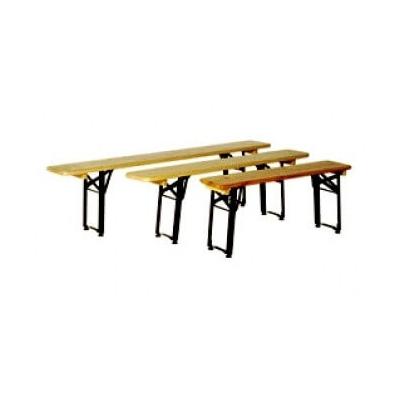 banc pliant exterieur en bois vernis. Black Bedroom Furniture Sets. Home Design Ideas