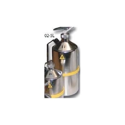 Bidon de sécurité en acier inoxydable Trionyx 1 litre avec bec verseur