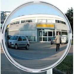 Miroir de route cadre blanc