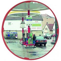Miroir circulation cadre rouge