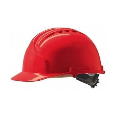 Casque de chantier rouge
