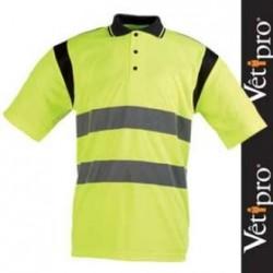 Polo haute visibilité jaune